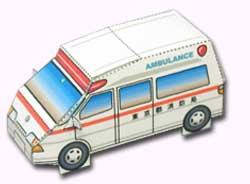 Papercraft de una ambulancia. Manualidades a Raudales.