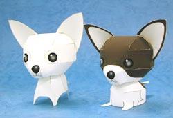 Papercraft de dos Chihuahuas. Manualidades a Raudales.